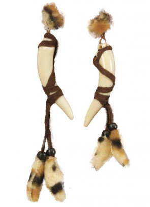 Native American Indian / Cavegirl Earrings