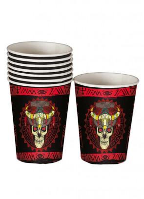 Halloween Voodoo Paper Cups 25cl - 8pk