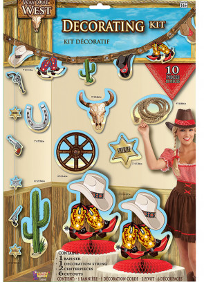 Way Out West 10 Piece Decorating Kit