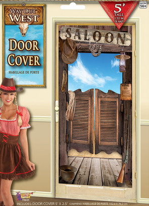 Way Out West Saloon Style Door Cover