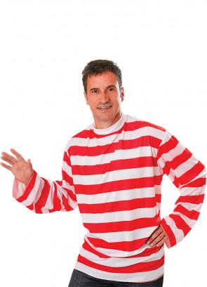 Waldo Red & White Striped Shirt