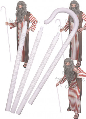 Shepherd's Crook or Bo Peep Staff - White