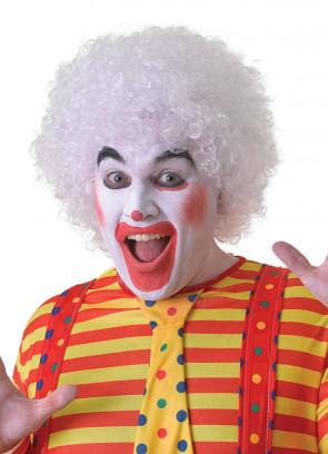 White Clown Afro Pop Wig