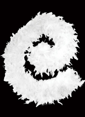 Feather Boa White 80g - 182cm
