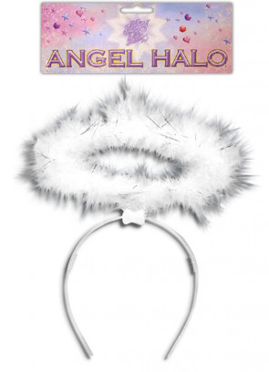 Angel Halo - White With Tinsel