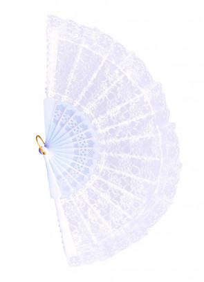 White Lace Fan