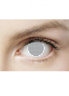 White Mesh Contact Lenses - 3 Month Wear