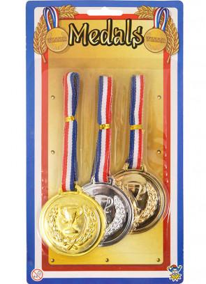 Winner Medals Gold Silve & Bronze - 6cm