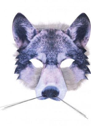 Wolf Mask Realistic Fur