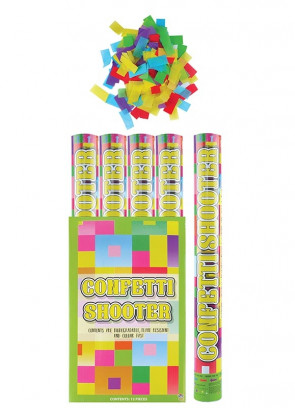 Large Multicoloured Confetti Cannon - 50cm - Biodegradable - x12