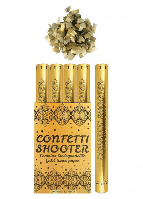 Large Gold Paper Confetti Cannon - 50cm - Biodegradable