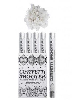 Large White Paper Confetti Cannon - 50cm - Biodegradable x12