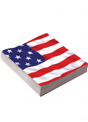 "USA Napkins 13"" (16 Pack)"