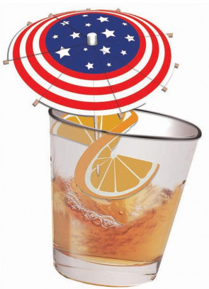USA Drinks Umbrella - 12 pack