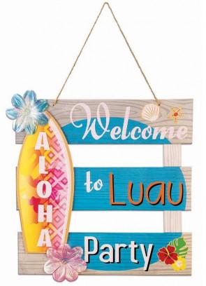 Hawaiian Luau Party Welcome Sign