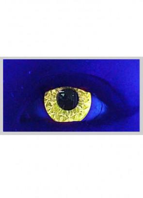 Yellow Abz Glitter UV Contact Lenses - 30 Day Wear