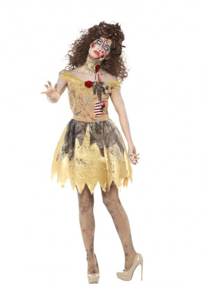 Zombie Golden-Fairytale Princess Costume