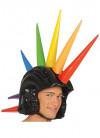 Punk Inflatable Rainbow Mohawk Helmet