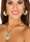 Gold Earrings and Necklace Set