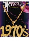 Disco Fever Medallion - 1970s Necklace