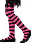 Kids Striped Tights - Pink & Black - Age 8-12