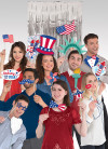 USA Photo Booth Props with Backdrop