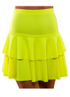 80s Ra Ra Skirt Neon Yellow