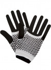 80s Fishnet Gloves White - Short