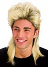 Two-tone Shoulder Length Blonde Mullet Wig - Dark Roots