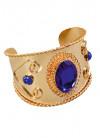 Blue Stone Metal Bracelet - Cleo or Goddess