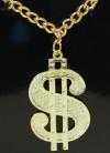 Dollar Medallion & Chain Necklace