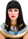 Cleopatra Wig - Braided Black Hair with Gold Organza Ribbon