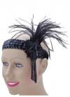 Black Flapper Headpiece