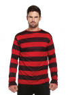 Red & Black Striped Fright Top - Bad-boy