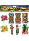 "Hawaiian Luau Cut Outs – 8 pieces 13"""