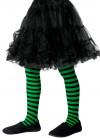 Kids Striped Tights - Green & Black - Age 8-12