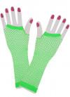 80s Neon Green Fishnet Gloves