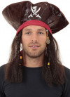 Caribbean Pirate Hat with Hair
