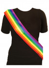 Gay Pride Rainbow Sash (Nylon )