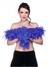 Feather Boa Royal Blue 60g - 170cm