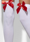 Stockings White with Red Bows - Dress Size 6-14