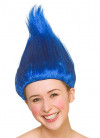 Troll Wig Blue - Up-combed Hair