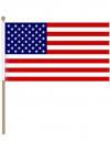 "United States - USA Hand Flag 18"" x 12"""