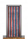 USA Tinsel Slash/Shimmer Curtain - Red, Silver, Blue 3ft x 7.9ft