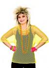 80s Short Sleeve Mesh Top - Neon Yellow