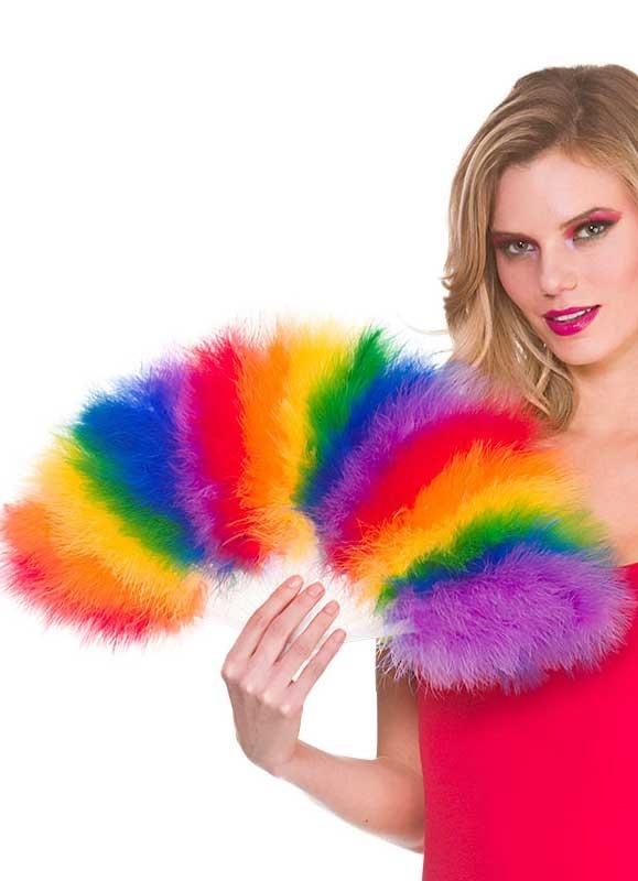 Ladies Rainbow Feather Boa Gay Pride Accessory Women Hen Night Party Fancy Dress