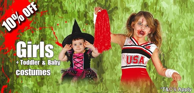 Girls Halloween Fancy Dress Costumes