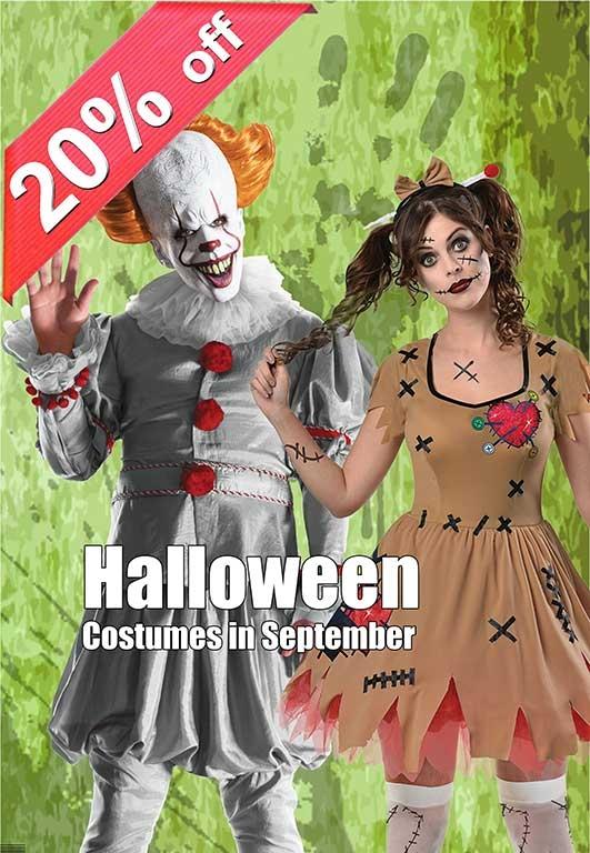 20 Percent off All Halloween Costumes