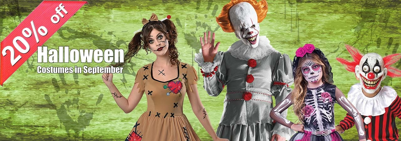 0% Off !!! Halloween Earlybird Offer!!! Get in Early and sort out your costume now!
