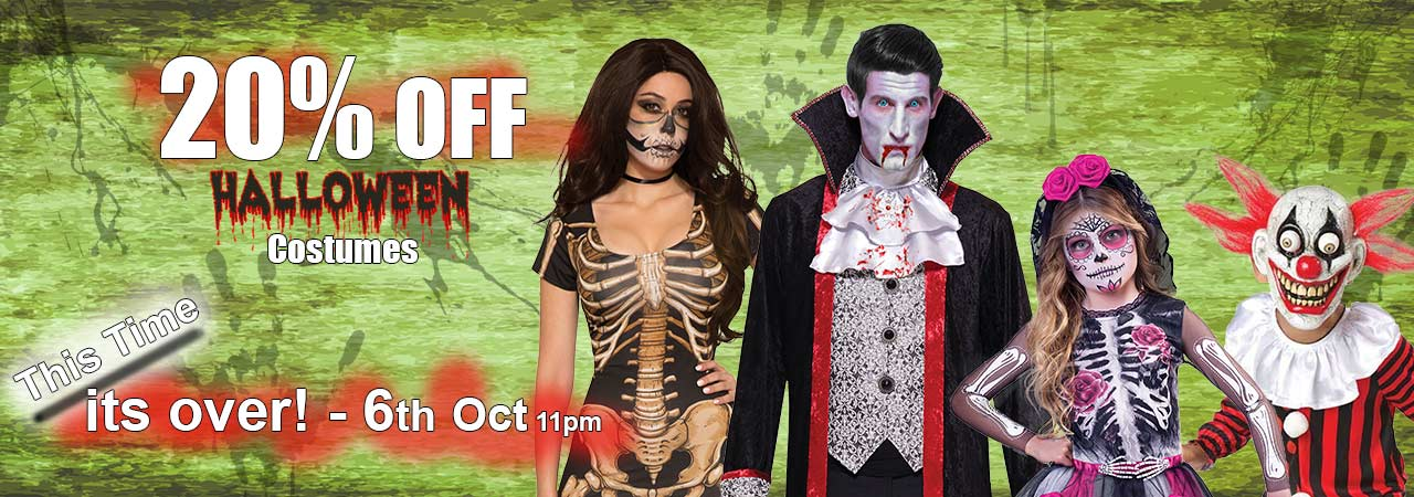 Halloween Early-Bird Special - 20 Percent Off Hallowen Costumes in September